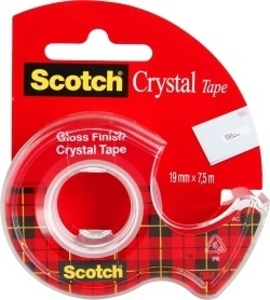 Lepicí páska Scotch Crystal s odvíječem  -  19 mm x 7,5 m