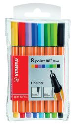 Liner STABILO point 88 MINI -  sada 8 ks