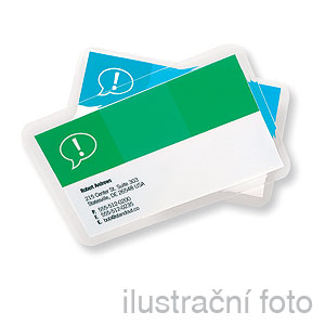 GBC BUSINESS CARD, 250 (2x125) µm, 60x95mm, lesklé