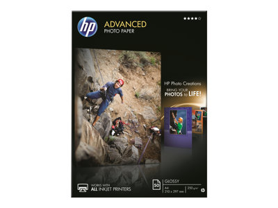 HP Advanced Glossy Photo Paper - Lesklý - A4 (210 x 297 mm) 50 listy fotografický papír